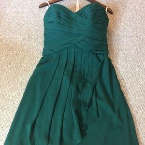 Green Knee Length David's Bridal Dress